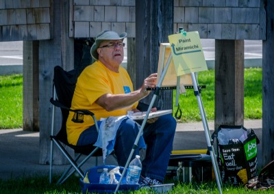 Percy Rossignol at paintout