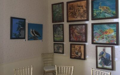 Art on display at Golf Course